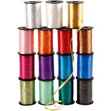 Kräuselband, B: 10 mm, Sortierte Farben, glänzend, 15x250m