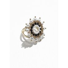 Round Jewelled Ring - Red