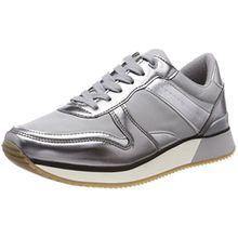 Tommy Hilfiger Damen Metallic Sneaker, Grau (Light Grey 004), 40 EU