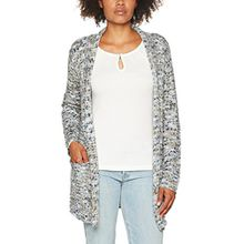 TAIFUN Damen Jacke Into the Blue, Mehrfarbig (Ocean Blue Gemustert 8005), 40