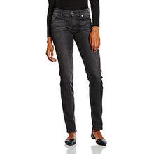 7 For All Mankind Damen Slim Jeanshose MID RISE ROXANNE, Gr. W25/L33 (Herstellergröße: 25), Schwarz (Riche Noir 0WZ)