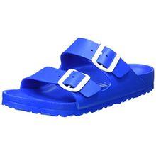 BIRKENSTOCK Unisex-Erwachsene Arizona Eva Pantoletten, Blau (Scuba Blue), 38 EU