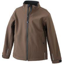 James & Nicholson Jungen Sportwear Set Softshelljacke braun (brown) M (122/128)