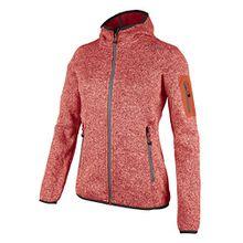 Fleecejacke Sondermodell Kiara Strickfleece Outdoor Jacke CMP für Damen mit Fleece-Innenausstattung und weicher Kapuze- Gr. 46, BITTER-ARGENTO
