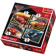 Puzzles 4in1 - 35/48/54/70 Teile - Cars 3