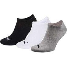 Puma unisex Sneaker Socken plain 9er Pack schwarz (35-38, grau/weiß/schwarz)