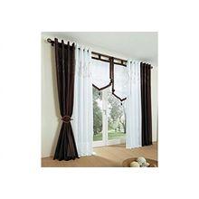 My Home Gardine 140x145 Vorhang Schlaufenvorhang Dekoschal Fertigdeko braun