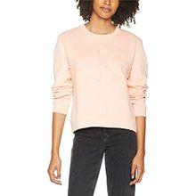 Calvin Klein Jeans Damen Sweatshirt Harper Cn Hwk L/s, Rosa (Peachy Keen 688), Medium