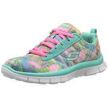 Skechers Skech Appeal - Floral Bloom, Mädchen Sneakers, Mehrfarbig (aqmt), 29 EU