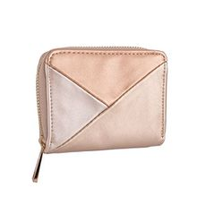 SIX Damen Portemonnaie, Geldbörse, metallic, gold, rosa (703-383)