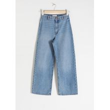 Organic Cotton Wide Jeans - Blue