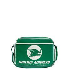 LOGOSHIRT Tasche 'Nigeria Airways' grün / weiß