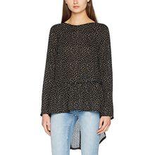 ICHI Damen Bluse Spunk SH, Schwarz (Black 10011), X-Small (Herstellergröße: 34)