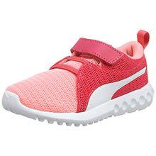 Puma Unisex-Kinder Carson 2 V PS Sneaker, Pink (Soft Fluo Peach White), 28 EU