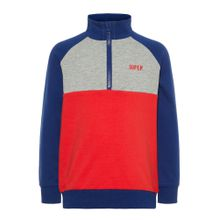 NAME IT Sweatshirt dunkelblau / graumeliert / rot