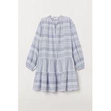 H & M - Volantkleid aus Baumwolle - White - Damen
