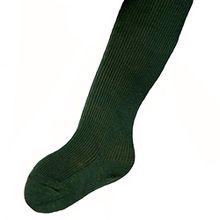 Kinderstrumpfhose 100% Baumwolle uni viele Farben, Farben alle:dunkelgrün;Größe:110/116