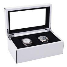 Uhrenkasten Tang S weiß hochglanz