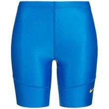 Nike Women's HALF TIGHT Dri-Fit Fietsen Hardlopen Training Shorts L Blauw-Geel