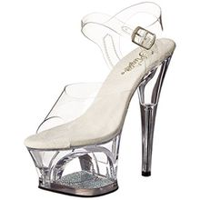 Pleaser Damen Moon-708DM Plateausandalen, Transparent (Transparent), 37 EU