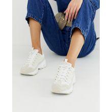 Skechers - D'Lite - Weiße Sneaker mit dicker Sohle - Weiß