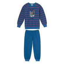Schiesser Jungen Schlafanzug Lang 144770, blau, 128