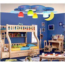 Blue Star Kinderzimmer Deckenleuchte LED-kreative Beleuchtung warme Kinderzimmer Schlafzimmer Kinder Junge Beleuchtung