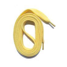 SNORS shoefriends Schnürsenkel flach 60-240cm, 7mm aus Polyester Schnürsenkel hellgelb