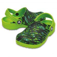 Crocs - Kid's Classic Graphic Clog - Outdoorsandalen - Sandalen Gr C4 grün/oliv