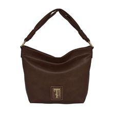 Silvio Tossi Lederhand- und Schultertasche mit Spezialschutzschicht Handtaschen braun Damen