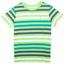 ESPRIT Jungen T-Shirt, gestreift 063EE8K002, Gr. 116/122, Grün (322)