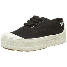 Palladium Damen Sub Low Canvas Sneaker, Schwarz (Black/Marshmallow 585), 38 EU