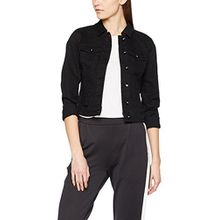 VERO MODA Damen Jeansjacke Vmhot Soya LS Denim Jacket MIX Noos, Schwarz (Black Black), 42 (Herstellergröße: XL)