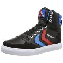 Hummel STADIL HIGH, Unisex-Erwachsene Hohe Sneakers, Schwarz (Black/Blue/Red/Gum), 39 EU (6 Erwachsene UK)