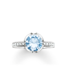 Thomas Sabo Ring blau TR2035-059-31-50