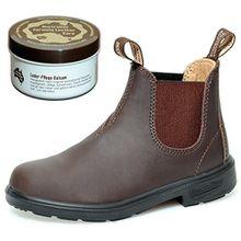 """Blundstone Kids Boots Style 530 """"Blunnies"""" - Stiefeletten für Kinder - Braun - Gr. 3 UK + Lederpflege"""
