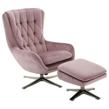 Carryhome RELAXSESSELSET Samt Hocker, Silber, Rosa