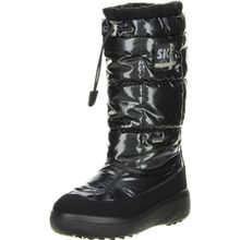 Vista Damen Winterstiefel Snowboots schwarz, Größe:42, Farbe:Schwarz