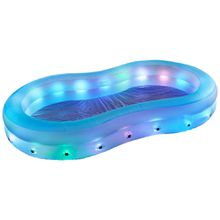 XXXL Pool mit LED beleuchtung Mehrfarbig, Weiß