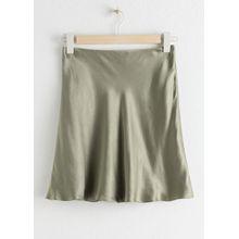 Satin Mini Skirt - Green