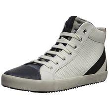 Geox Jungen J Alonisso Boy A Hohe Sneaker, Weiß (White/Navy), 36 EU