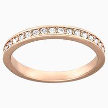 Rare Ring, weiss, Rosé vergoldet