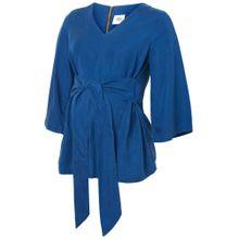 MAMALICIOUS Bluse blau