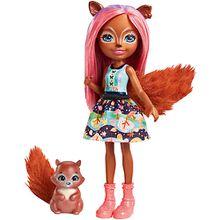 Enchantimals Eichhörnchen-Mädchen Sancha Squirrel Puppe