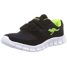 KangaROOS BlueKids 2082, Jungen Sneakers, Schwarz (Black/Lime 580), 38 EU