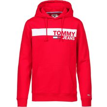 Tommy Jeans Hoodie Pullover rot Herren