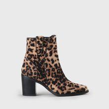 Flicka Stiefelette in Wildleder-Optik Leopard