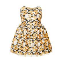 NAME IT Kleid orange / weiß