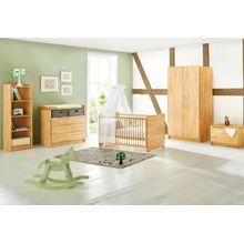 Pinolino Komplett Kinderzimmer NATURA, 3-tlg. (Kinderbett, Wickelkommode breit und 2-türiger Kleiderschrank), FSC®-zertifizierte Buche vollmassiv, geölt holzfarben
