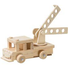 Modellbausatz Holz Feuerwehrauto